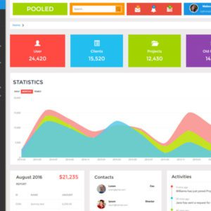 Pooled Free Admin Bootstrap Template