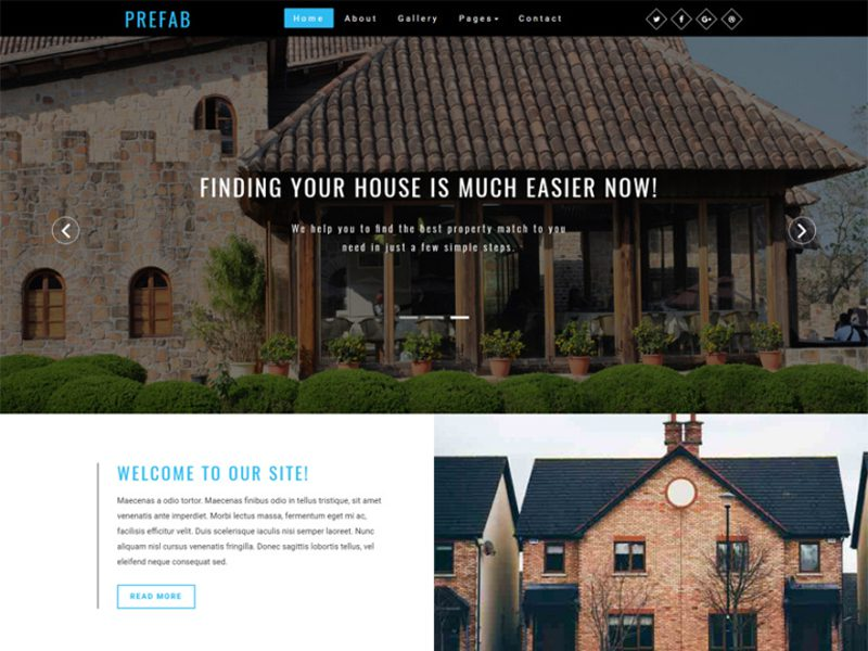 Prefab Free Real Estate Bootstrap Template
