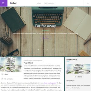 Timber Free Creative WordPress Theme