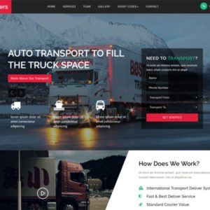 Transporters Free Transport Website Template