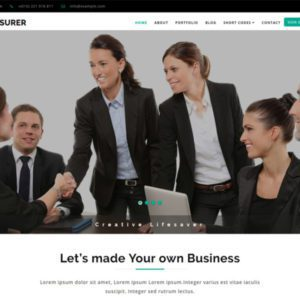 Treasurer Bootstrap Corporate Template