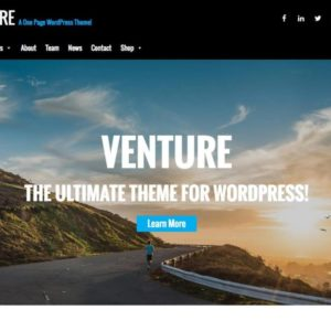 Venture Lite Best Onepage WordPress Theme
