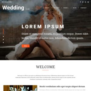 Wedding Plan Free Bootstrap Wedding Template