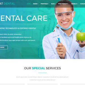 AT Dental Free Dental Website Template