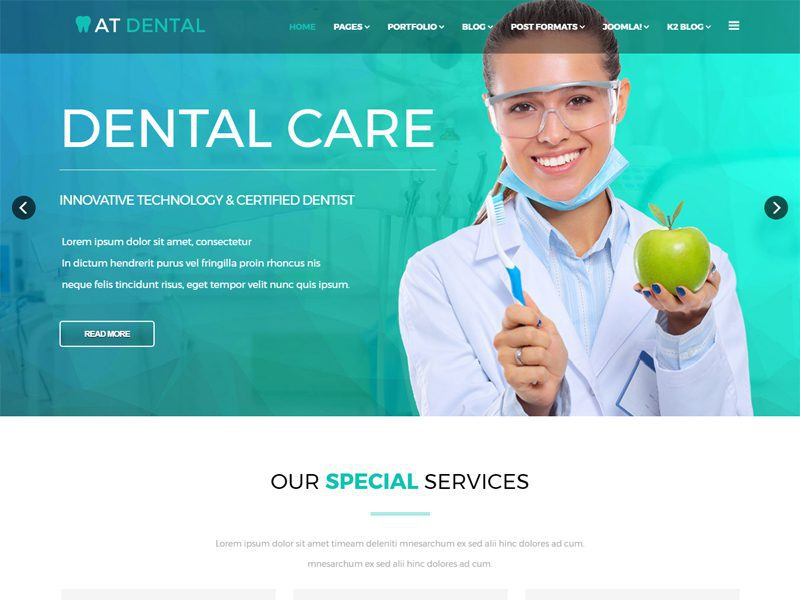dental websites templates