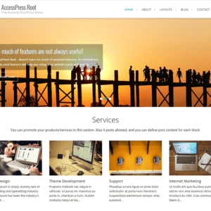 AccessPress Root WordPress Blog Theme