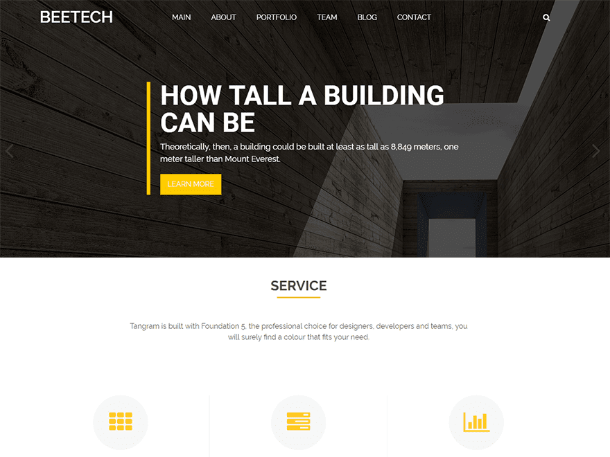 Beetech Free WordPress Construction Theme