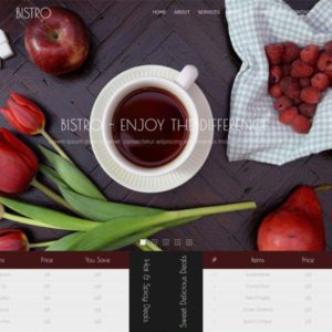 Bistro Free Restaurant Website Template