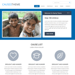 Causes Free Charity WordPress Theme