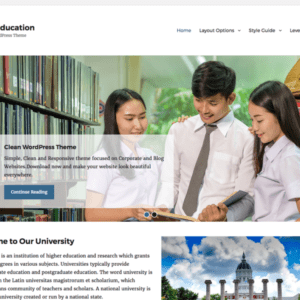 Clean Education Free Education WordPress Theme