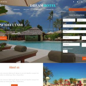 Dream Hotel Bootstrap Hotel Template