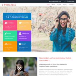 E progress Free School Bootstrap Template