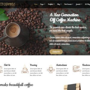 ET Coffee Joomla Coffee Shop Template