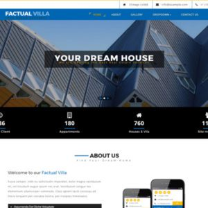 Factual Villa Bootstrap Real Estate Template