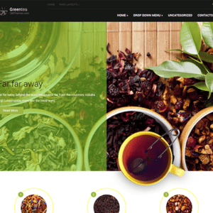 GreenTea Free Coffee WordPress Theme