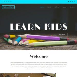 Learn Kids Bootstrap School Template