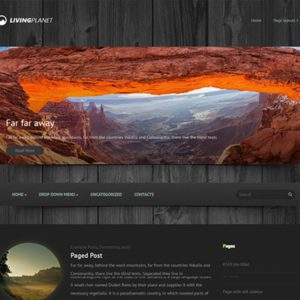 LivingPlanet Free WordPress Travel Theme