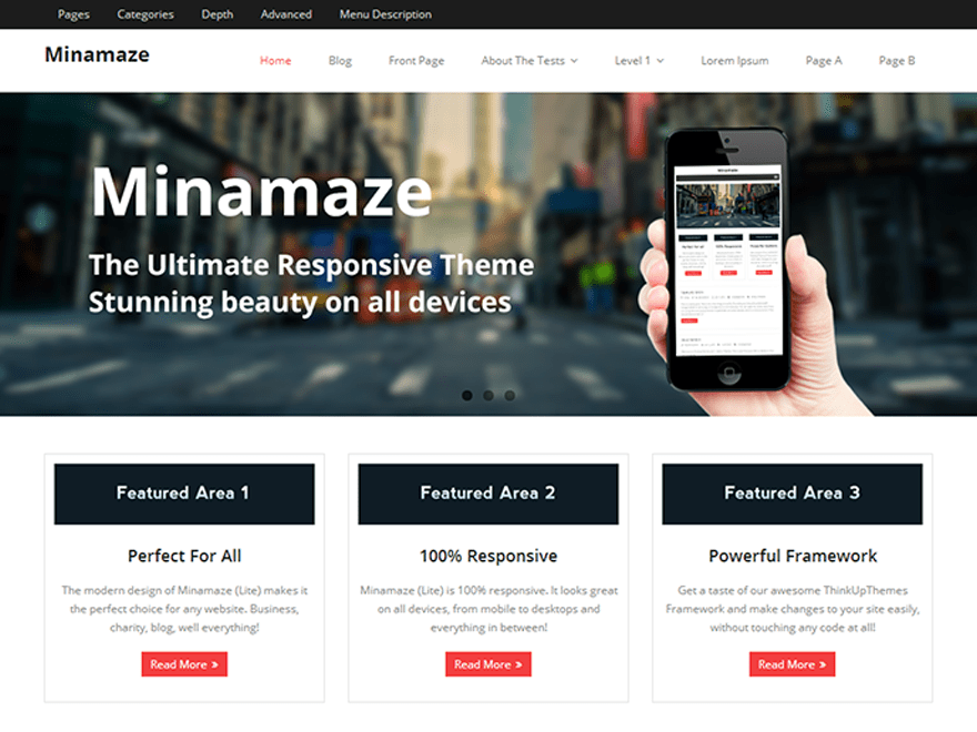 Minamaze Free WordPress Blog Theme