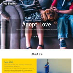 Pet Shelter Free Pet Website Template