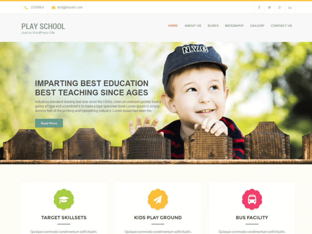 Play School Free WordPress Education Theme