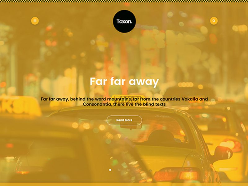 Taxon Free Taxi WordPress Theme