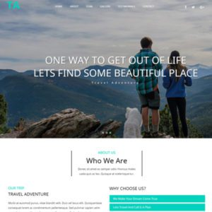 Travel Adventure Bootstrap Travel Template