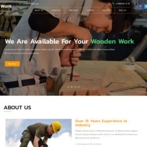 Wooden Work Free Bootstrap Industrial Template