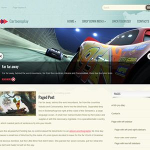 CartoonsPlay Free Game WordPress Theme