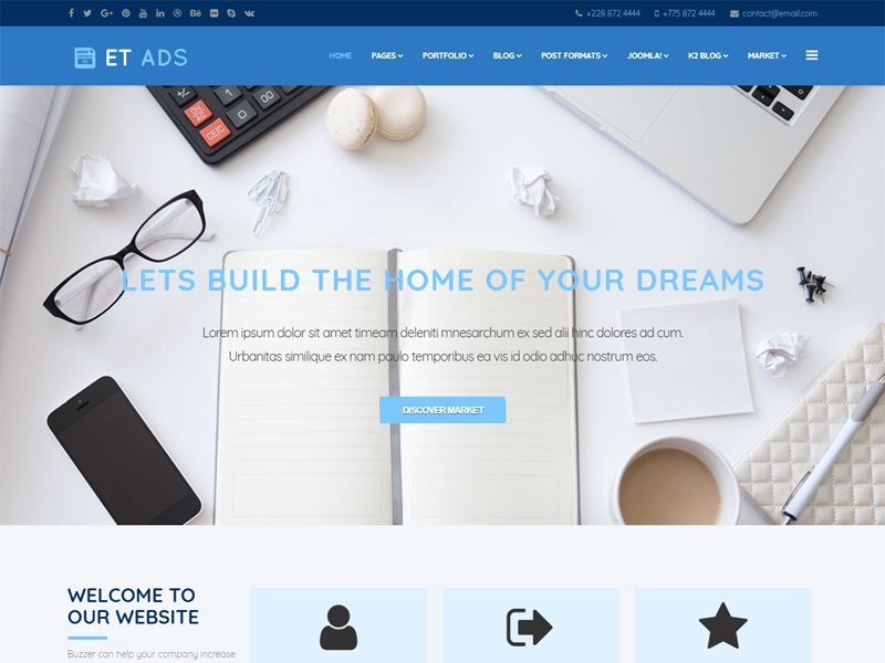 ET Ads Free Classified Ads Joomla Template