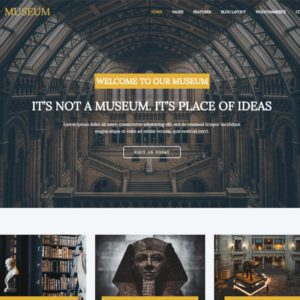LT Museum WordPress Museum Theme