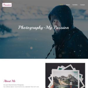 Passion Free Personal Bootstrap Template