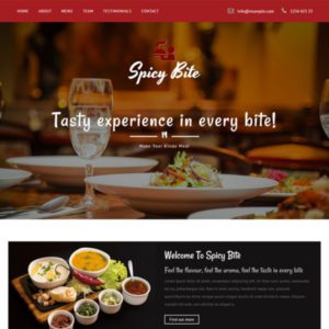 Spicy Bite Bootstrap Restaurant Template