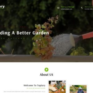 Topiary Free Bootstrap Exterior Template