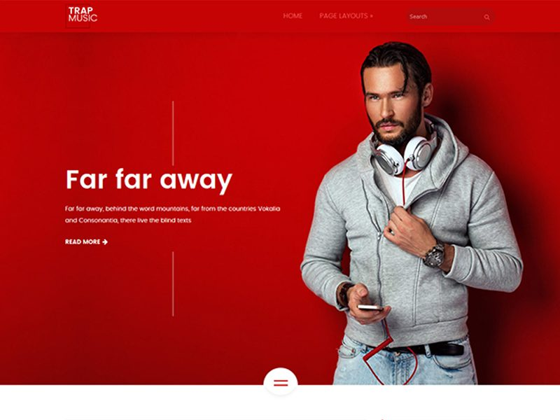 TrapMusic Free Music WordPress Theme