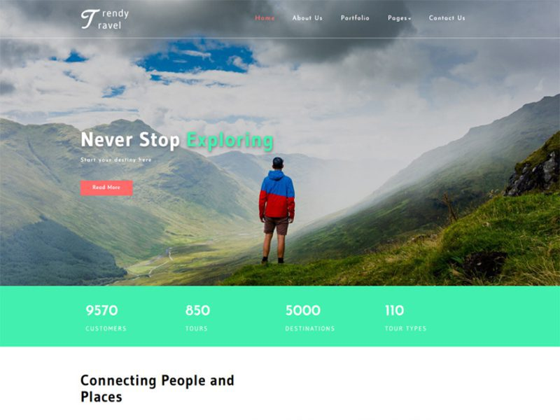 Trendy Travel Free Travel Bootstrap Template