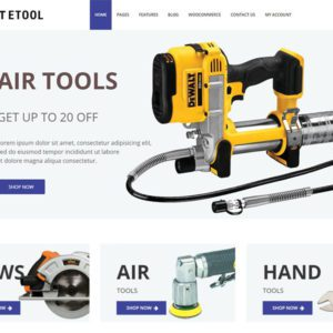 ET Etool Free Responsive Equipment WordPress Theme
