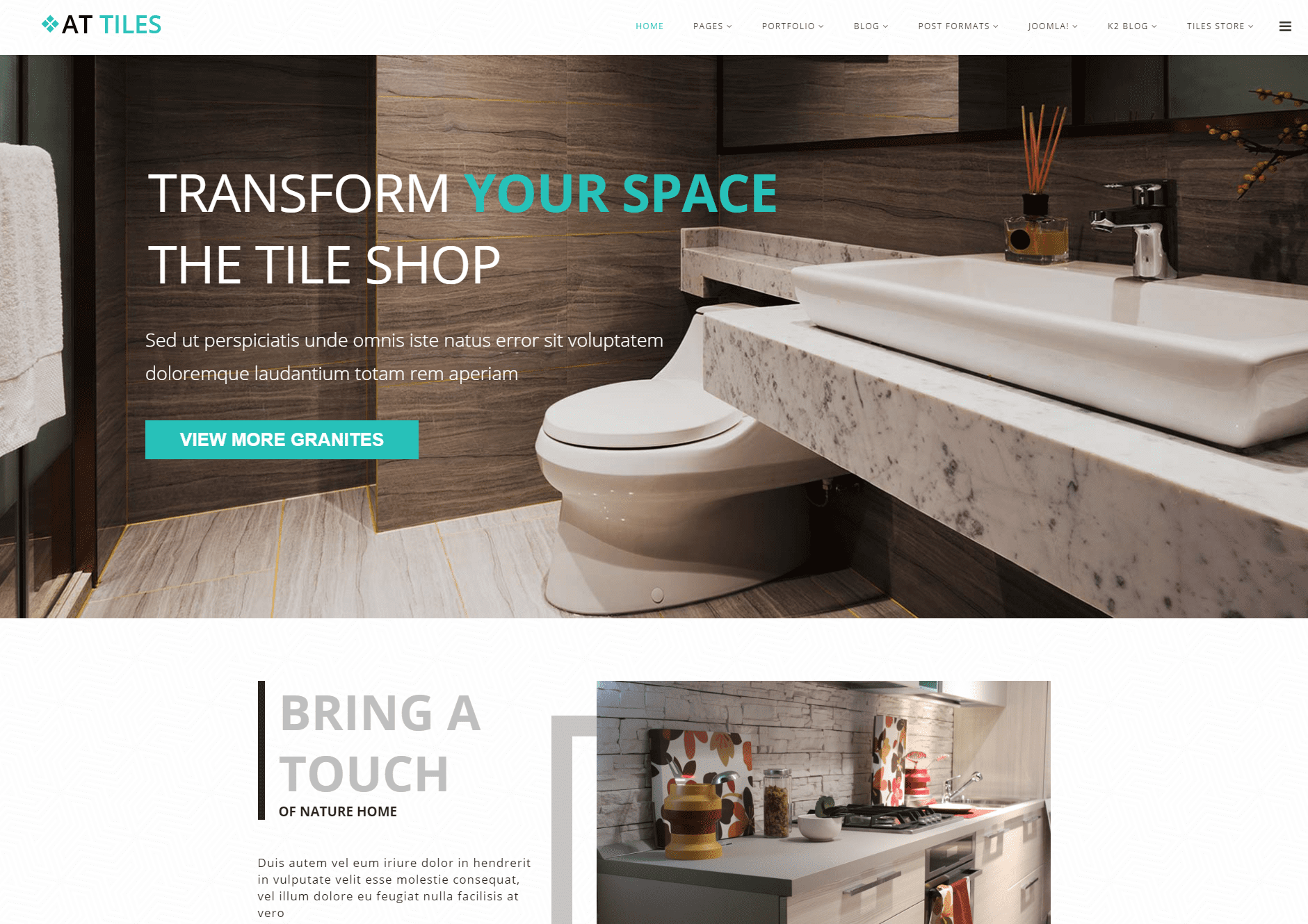 At Tiles Free Construction Material Website Template Freemium Download