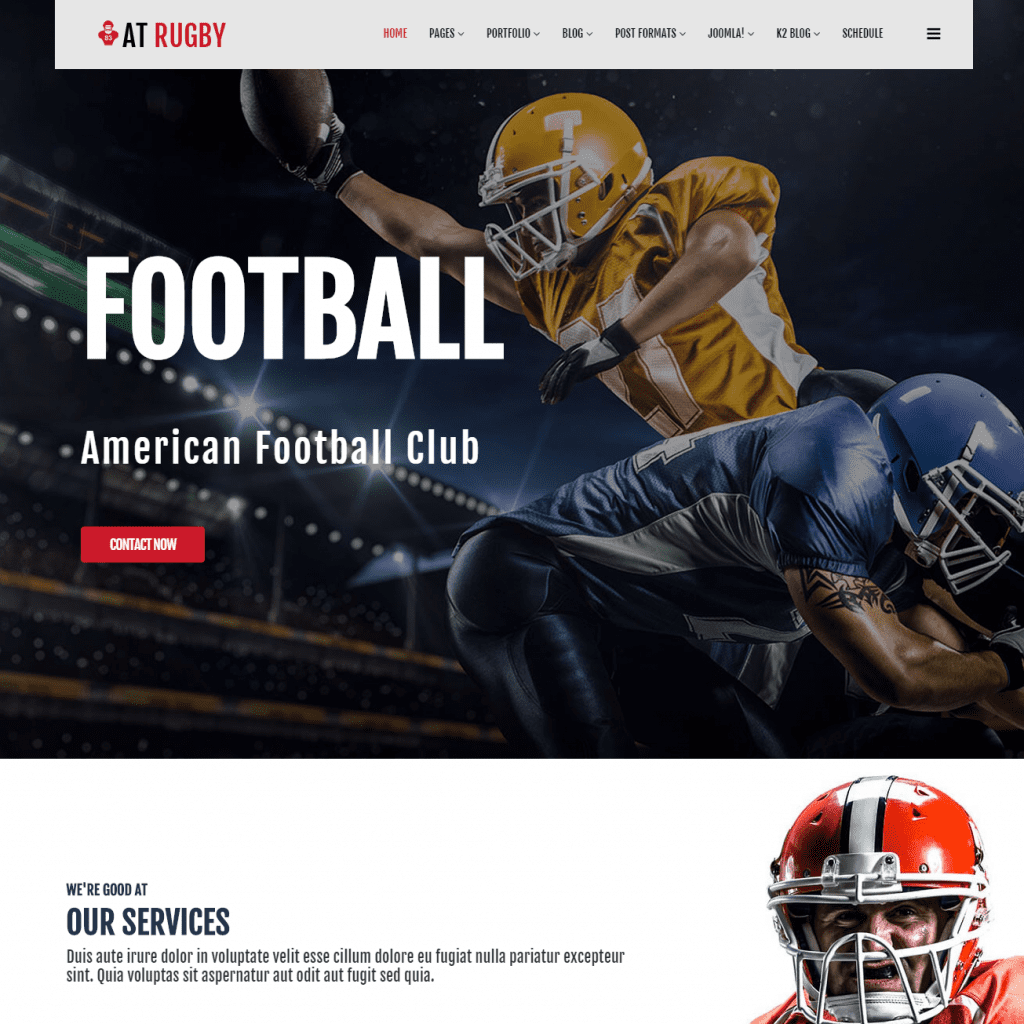 free at rugby joomla template