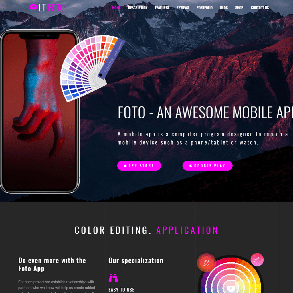 free lt foto wordpress theme