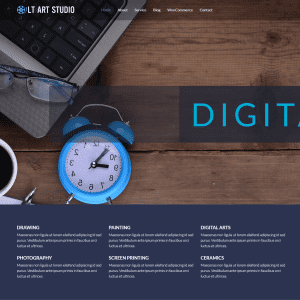 Free lt art studio onepage wordpress theme