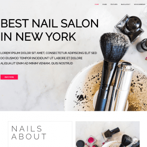 Free lt nail onepage wordpress theme