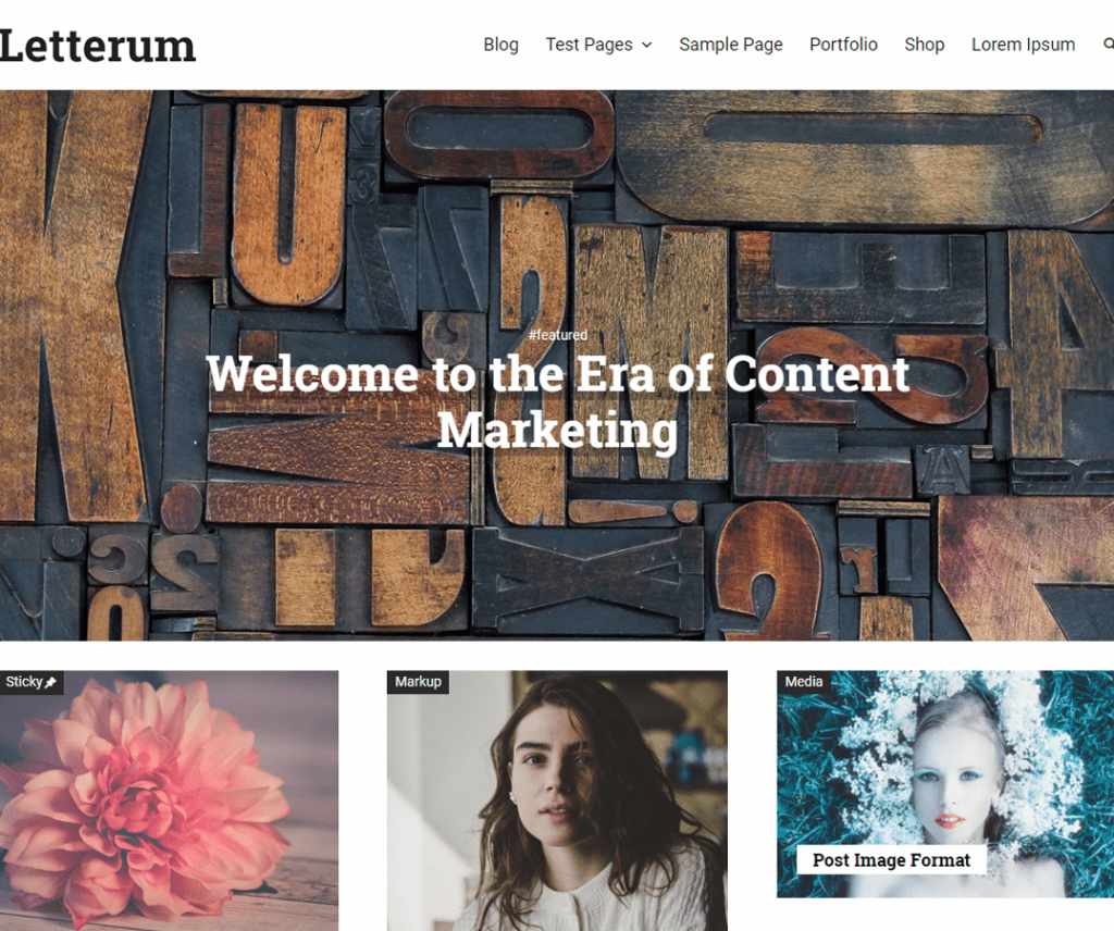 Free Letterum WordPress theme