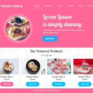 Free Panadero Bakery WordPress Theme