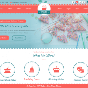 Free Tanawul Bakery WordPress Theme