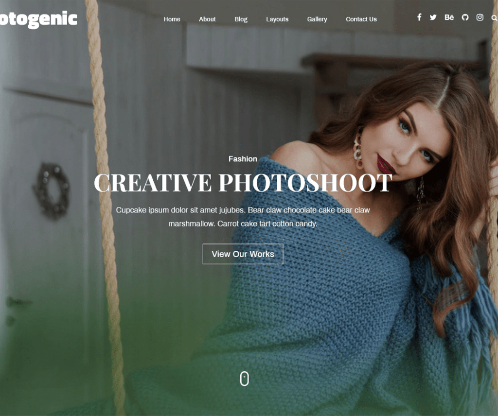 free Fotogenic wordpress theme