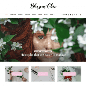 Free Blossom Chic WordPress Theme