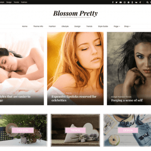 Free Blossom Pretty WordPress Theme