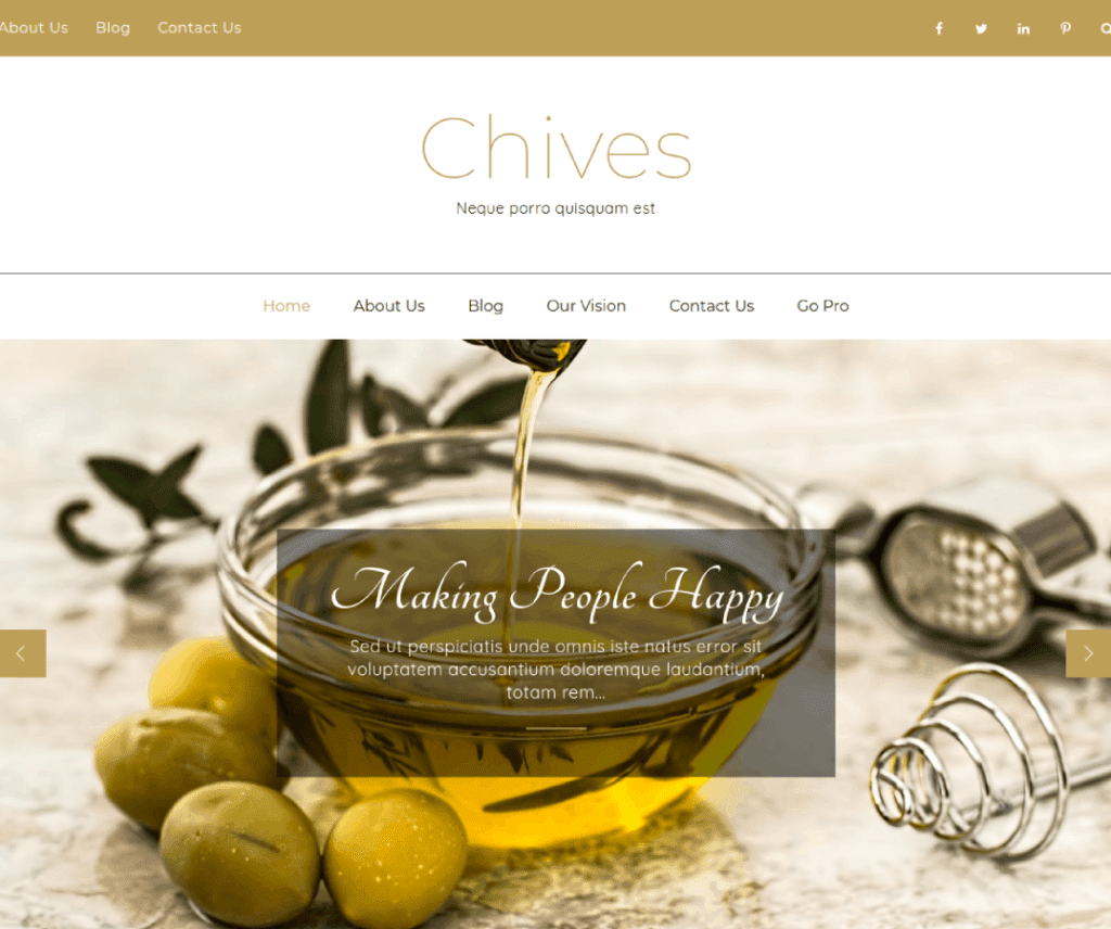Free Chives WordPress Theme