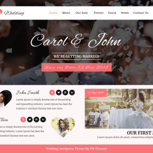 Free VW Wedding WordPress Theme