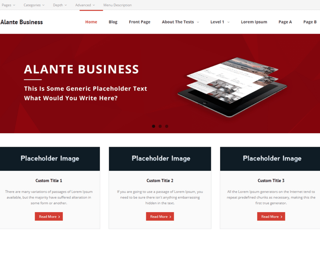 Free Alante Business WordPress Theme
